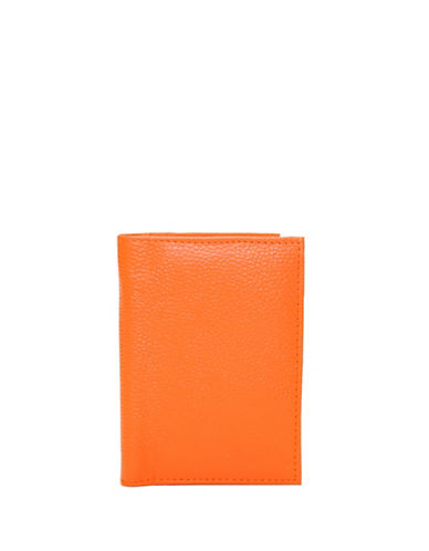 Ashlin Amsterdam RFID Blocking Leatherette Passport Wallet-ORANGE-One Size