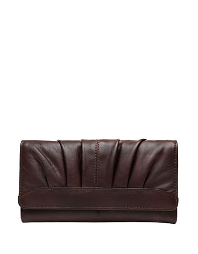 Ashlin Devonne Leather Tri-Fold Wallet-CHOCOLATE-One Size