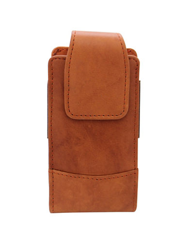 Ashlin Catanzaro Leather Phone Case-BROWN-One Size