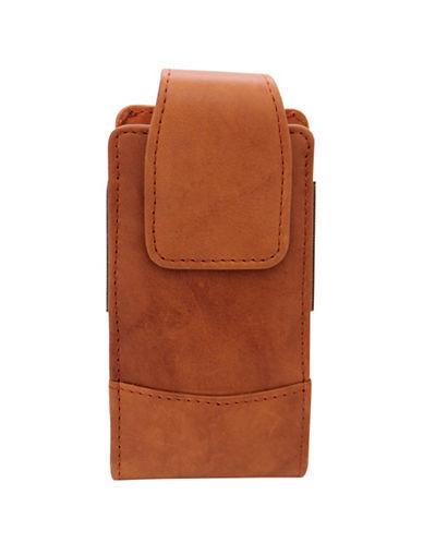 Ashlin Catanzaro Leather Phone Case-BROWN-One Size