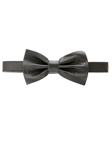 Ashlin Tuscany Leather Neck Tie-BLACK-One Size