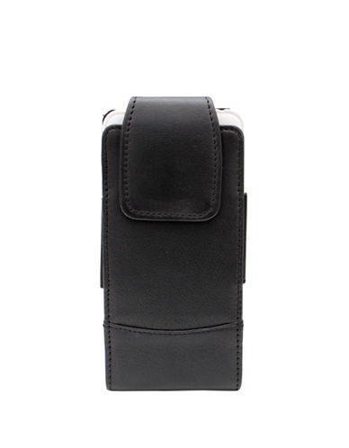 Ashlin Rymall Leather Phone Case-BLACK-One Size