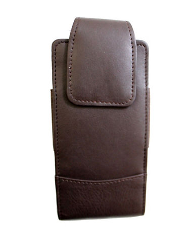 Ashlin Rymall Leather Phone Case-CHOCOLATE-One Size