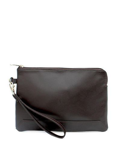 Ashlin Kayleigh Tuscany Leather Wristlet-CHOCOLATE-One Size