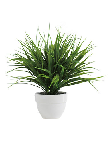 Torre And Tagus Designs Potted Faux Grass Plant-DARK GREEN-One Size