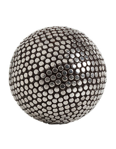 Torre And Tagus Designs Studded Decor Ball-SILVER-One Size