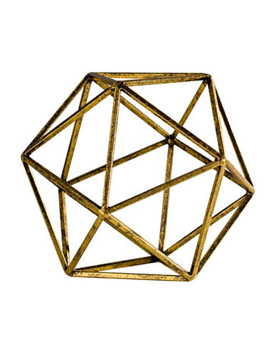 Torre And Tagus Designs Goldtone Oro Polygon Sculpture-GOLD-Large