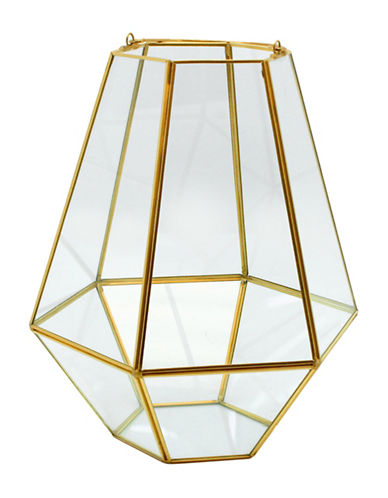 Torre And Tagus Designs Goldtone Oro Hexagon Hurricane Sculpture-GOLD-Small