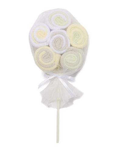 Tendertyme Lollipop Twelve Pack of Wash Cloths-NATURAL-One Size