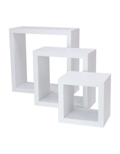 Home Outfitters Cubbi Three-Piece Wall Shelves-WHITE-One Size
