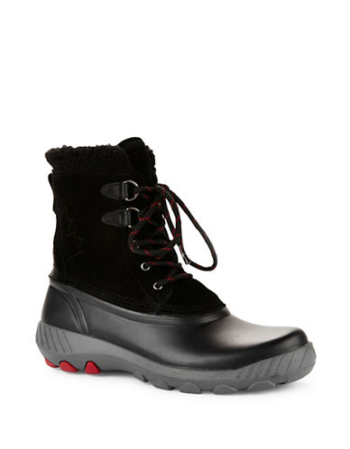Cougar Suede Waterproof Winter Boots-BLACK-7