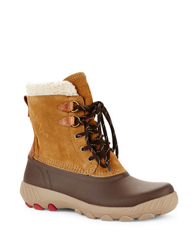 Cougar Suede Waterproof Winter Boots-OAK-8