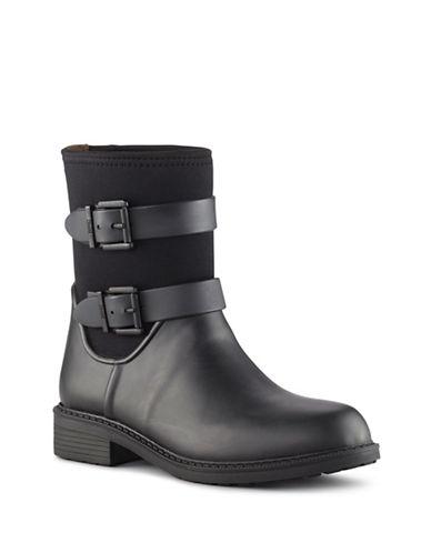 Cougar Waterproof Genuine Stretch Rain Boots-BLACK-11