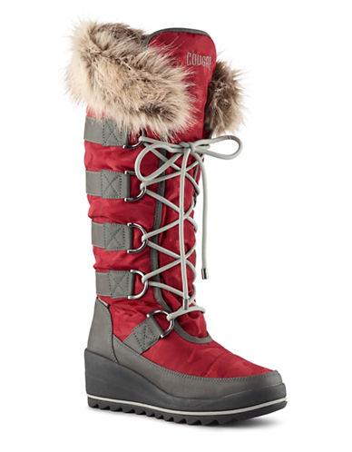Cougar Lancaster Faux-Fur Trimmed Mid-Calf Winter Boots-MERLOT-11