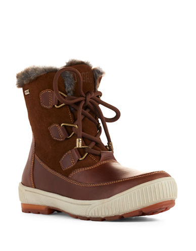 Cougar Wilson Waterproof Leather and Suede Boots-BROWN-10