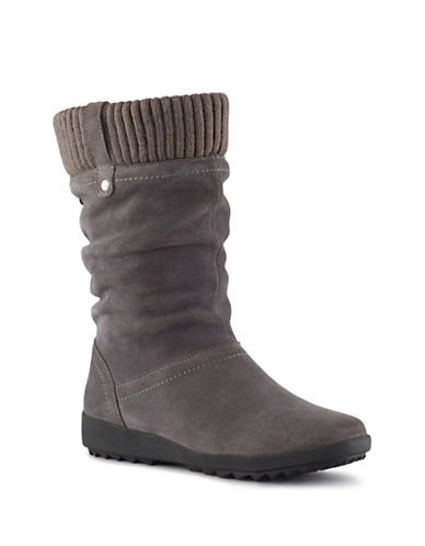 Cougar Vienna Waterproof Leather Mid-Calf Boots-GREY-10
