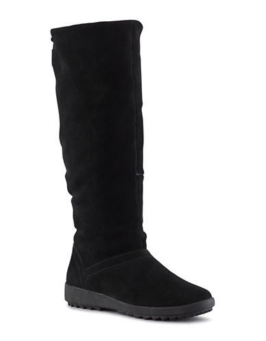 Cougar Waterproof Insulated Suede Tall Boots-BLACK-10