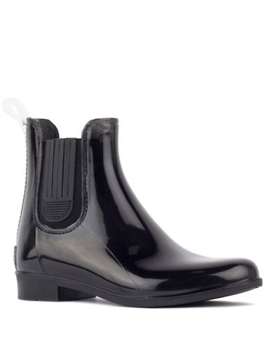London Fog Chelsea Water Resistant London Fog  Rain Boots-BLACK-7