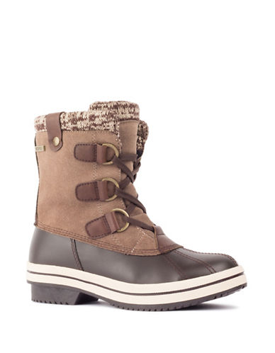 London Fog Ava Cold Weather Boots-TAUPE-11