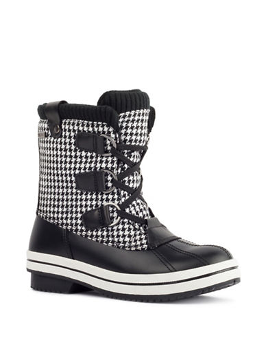 London Fog Ava Cold Weather Boots-HOUNDSTOOTH-8