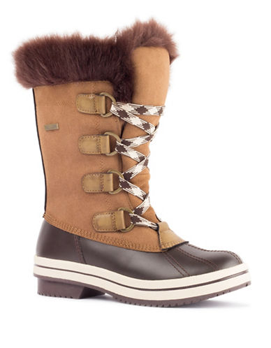 London Fog Avalon Cold Weather Boots-BROWN-6
