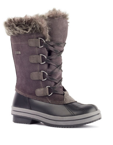 London Fog Avalon Cold Weather Boots-GREY-8