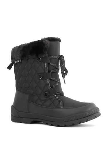 London Fog Mimic Cold Weather Boots-BLACK-10