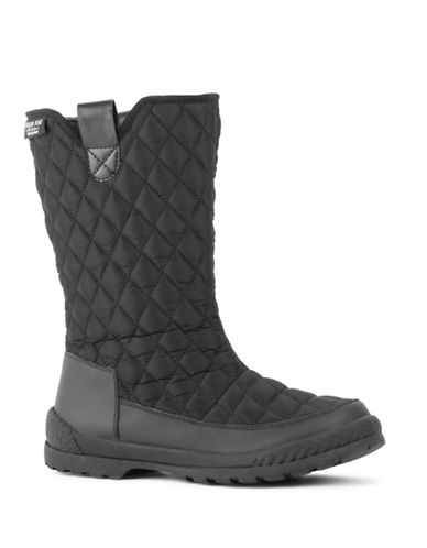 London Fog Maggie Cold Weather Boots-BLACK-11