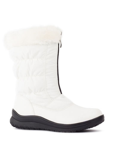 London Fog Jane Cold Weather Boots-WHITE-10