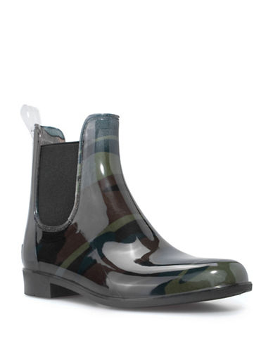 London Fog Chelsea Water Resistant London Fog  Rain Boots-PLATINO-11