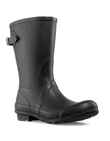 London Fog Hadley Mid Calf Rubber Rainboot-BLACK-11
