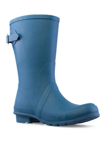 London Fog Hadley Mid Calf Rubber Rainboot-BLUE-11