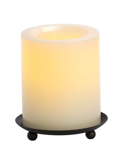 Candle Impressions Real Wax LED Smooth Pillar Candle 3x4-Inch-NATURAL-One Size