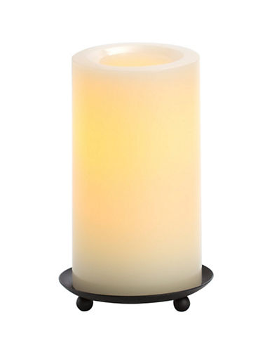 Candle Impressions Real Wax LED Smooth Pillar Candle 3x6-Inch-NATURAL-One Size