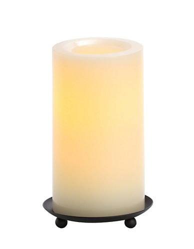 Candle Impressions Real Wax LED Smooth Pillar Candle 3x8-Inch-NATURAL-One Size