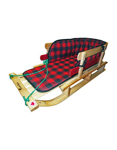 Streamridge Frontier Hardwood Padded Sleigh-BEIGE/RED-One Size