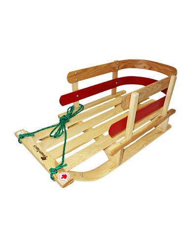 Streamridge Vintage Hardwood Sleigh-BEIGE/RED-One Size