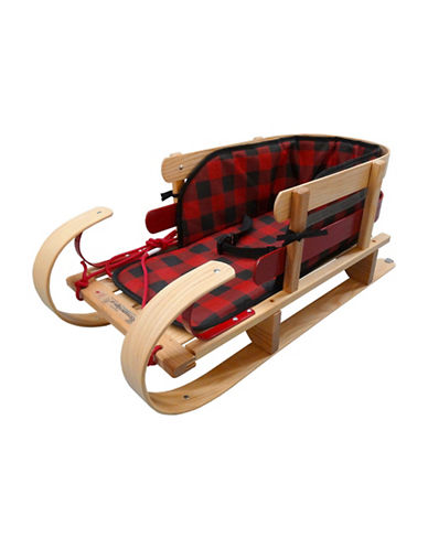 Streamridge Grizzly Kinder Sleigh and Glowing Plaid Pad Set-BEIGE-One Size