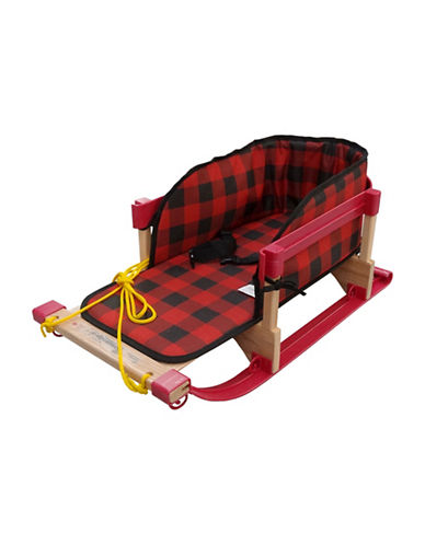 Streamridge Alpine Slasher Sleigh and Belted Plaid Pad Set-RED-One Size