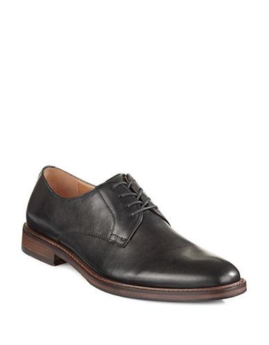 Pegabo Leather Lace-Up Dress Shoes-BLACK-EU 44/US 11