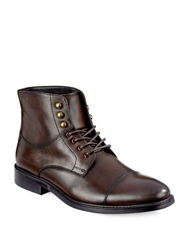 Pegabo Pedale Leather Lace-Up Boots-BROWN-EU 43/US 10 88634964_BROWN_EU 43/US 10