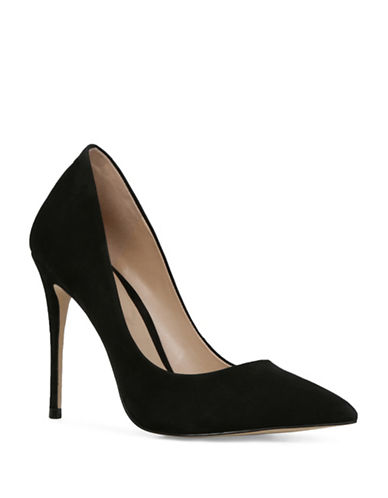 Aldo Cassedy Pointy Toe Pumps-BLACK NUBUCK-7.5