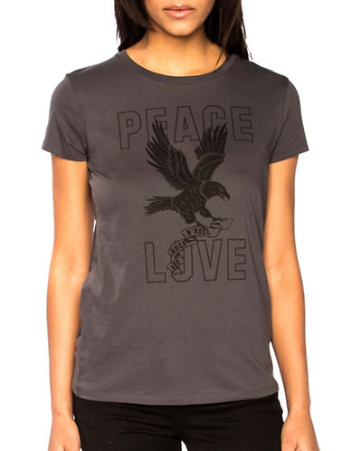 Chrldr Peace and Love T-Shirt-GREY-X-Small 89039759_GREY_X-Small