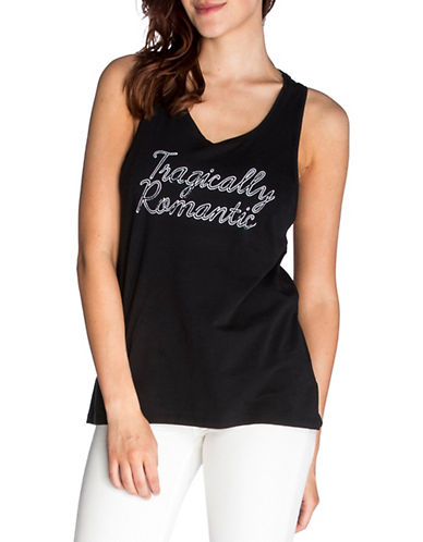 Chrldr Tragically Romantic Cotton Tank Top-BLACK-Medium 90005657_BLACK_Medium