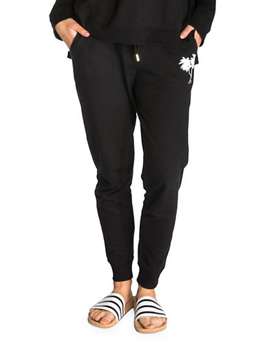 Chrldr Palms French Terry Slouch Sweatpants-BLACK-Large 89967759_BLACK_Large