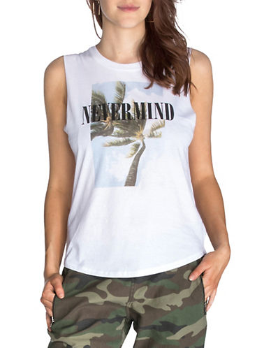 Chrldr Nevermind Muscle Tee-WHITE-Large 89967771_WHITE_Large
