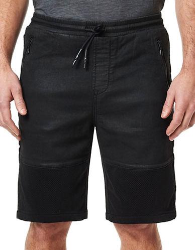 Buffalo David Bitton Coated Drawstring Track Shorts-BLACK-XX-Large 88576442_BLACK_XX-Large