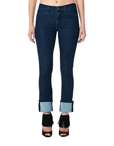 Buffalo David Bitton Faith Mid Rise Crop Jeans-BLUE-27