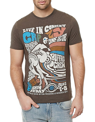 Buffalo David Bitton Graphic T-Shirt-CHARCOAL-Large 88339848_CHARCOAL_Large
