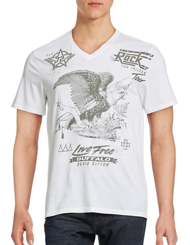 Buffalo David Bitton Short Sleeve Graphic T-shirt-WHITE-X-Large 88490487_WHITE_X-Large